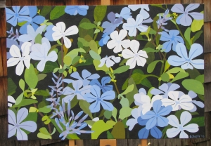 Plumbago - finished and ready to frame